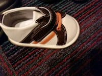 pair of black-and-white velcro shoes Red Deer, T4N 2G5
