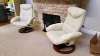 Swivel recliner arm chair. 2 Total