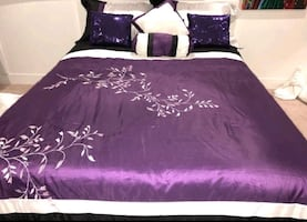 Purple bed cover