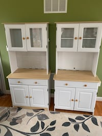 white wooden cabinet with hutch Round Hill, 20141
