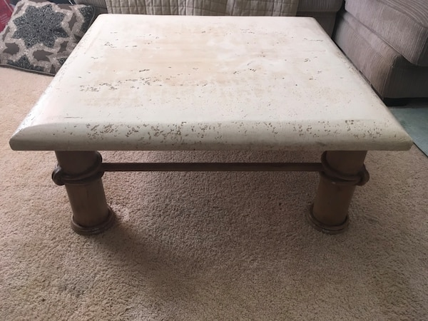 Unique Stone/Metal Finish Coffee Table b9d19ae8-dbca-4ad6-9b11-81c691ce90a3