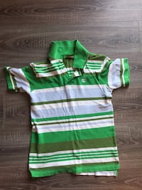 green and white striped polo shirt Bethesda, 20814
