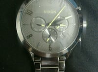 round silver-colored chronograph watch with link bracelet Calgary, T2A 5X6