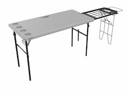 New Lifetime Tailgate Table with grill rack