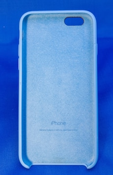 Apple iphone6 blue silicone case.