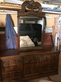 Bedroom suite. Real wood not particle board. Willing to sell the wardrobe separately. Excellent condition  Calgary, T1Y 2K5