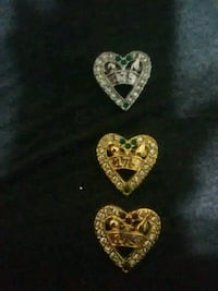 Heart pins with the number 175 Chico, 95926