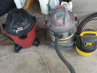 two red and black canister vacuum cleaners Arlington, 22226