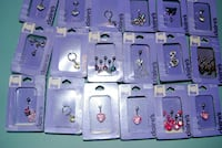 LOT OF 53 NEW belly button rings lip ear eyebrow piercing jewelry claire's  Edmonton