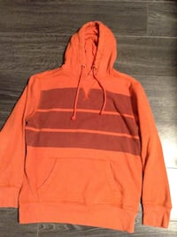 Men's hoodies orange:small, green:large