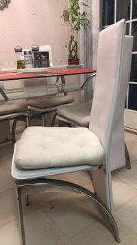 white leather padded rolling armchair Gaithersburg, 20878