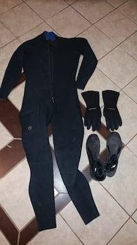 2mm neoprene full wetsuit with gloves and boots