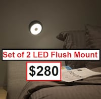 AJ- BRAND NEW- Gravy 1-Light LED Flush Mount (Set of 2) Mississauga