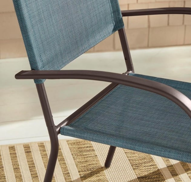 Hampton Bay  Stackable Split Back Sling Outdoor Patio Dining Chair 53958110-2f59-48d7-923e-d3007f759873