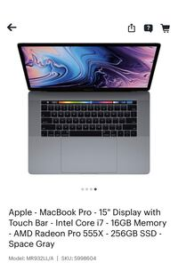 Apple Macbook Pro 2019 15in 9th Gen i7 Happy Valley, 97015