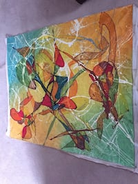 Multi-colored abstract painting