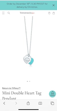 Tiffany Heart Necklace Vaughan