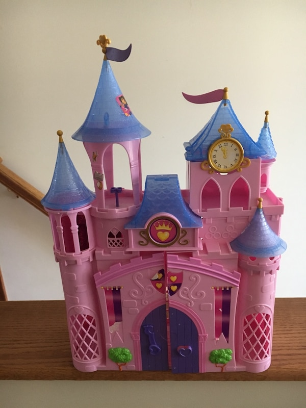 Used Blue And Pink Castle Toy For Sale In New York Letgo
