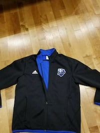 black and blue adidas zip-up jacket Chambly, J3L 5W1