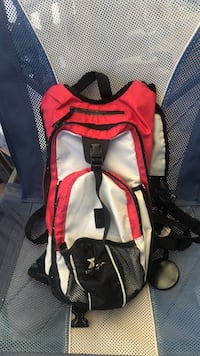 red and black hiking backpack Fife, 98424