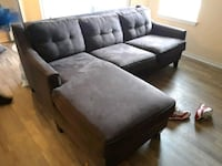 black leather sectional sofa with ottoman Tampa, 33617