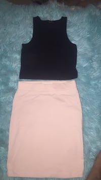crop top size small and pencil skirt size small Kansas City, 64129