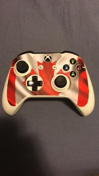 Xbox1 controller with Canadian flag wrap Sherwood No. 159, S4X 0G6