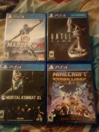 4 PS4 games Burtonsville, 20866