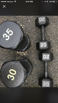 Set of 20lb. and one 30 and 35lb. Dumbbells New York, 10039