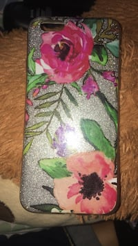 green, pink, and purple floral iPhone case Toronto, M6P