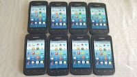 six black and one white android smartphones Toronto, M9V 4H3