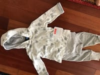 baby's white and gray footie pajama Pickering, L1V 7C9