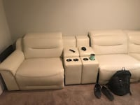 White leather 6-seat power recliner sectional Carrollton, 75006