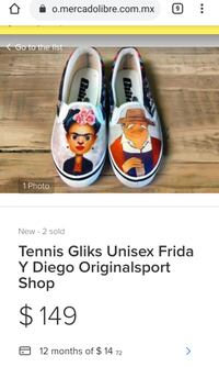 Funky Frida and Diego shoes  Mississauga, L4X