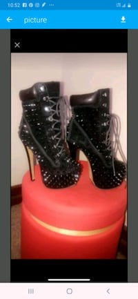 Spiked black boots