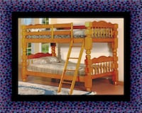 Wooden twin bunkbed frame with 2 mattress Fairfax