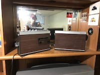 two brown vintage radios Toronto, M3H 4L4