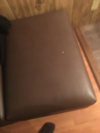brown leather cushion