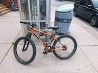 Orange and Black Mountain Bike with Fat Tires Oakville, L6J 6Y4