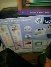 white and blue Brother electric sewing machine box Bronx, 10460