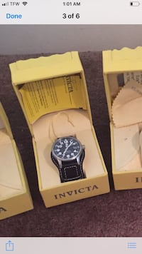 round silver Invicta chronograph watch with link bracelet Columbus, 31904