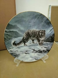 snow tiger decorative plate Guelph, N1G 2S6