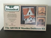 "1981 GREENLEAF ""Arthur"" WOOD DOLLHOUSE KIT Bath & Bedroom furniture.  Herndon, 20170"