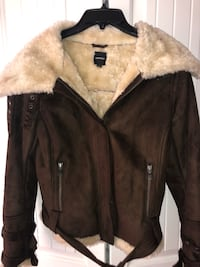 Express Size Medium faux Suede coat. Versatile ways to wear. Not worn much and in excellent condition. **I will Be moving in 2 weeks. If coat not sold, I will be taking with me. So if you're on the fence now, I may not be here later. Thanks.  San Diego, 92123