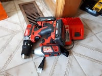 red cordless Milwaukee power drill