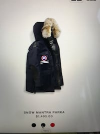 Navy snow Mantra Canadian Goose Parka. Only worn once