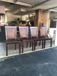 Sturdy oak chairs