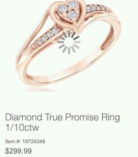 Promise Ring Size 7 Rose gold  Dundalk, 21222