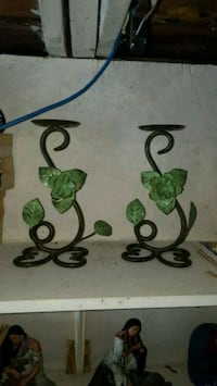 pair of green-and-black candleholders Deseronto, K0K 1X0