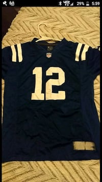 blue and white NFL jersey Anderson, 46011
